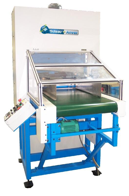 Guillotina automática de alta cadencia para corte de materiales flexibles